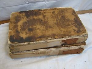 Antique 2 Vol Set Stackhouse New History of the Bible 1742 London Illustrated