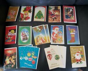 19 Vintage Christmas Cards & Envelopes 60s -70s