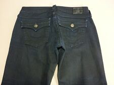096 WOMENS NWOT TRUE RELIGION BECKY NAVY PAINTED STRETCH JEANS 29 REG $320 RRP.