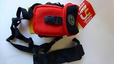 ROADWIRED POD POUCH COMPACT CAMERA CASE MP3 PLAYER POUCH W/ SHOULDER STRAP RED