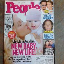 Christina Aguilera People Magazine February 2015 Johnny Depp