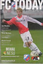Programma / Programme FC Utrecht v AZ Alkmaar 19-02-2012