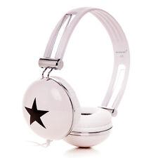 STAR OVERHEAD DJ HEADPHONE EARPHONE FOR GIRLS BOYS CHILDRENS KIDS TEENS WHITE