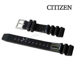 GENUINE CITIZEN 59-L7334 20MM RUBBER WATCH BAND FOR PROMASTER NY0040-09E