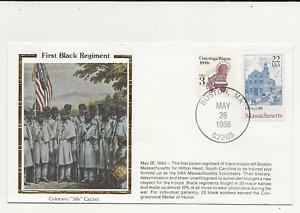 US Army Comm/FDC -  Civil War - First Black Regiment - 1988 (060)Z