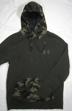 UNDER ARMOUR ~ Polyester Blend Camo Hoodie Sweatshirt ~ Men's Large - Green