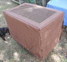 "Fabric wire crate cover Brown w/bone pattern 36"" long 22""wide."