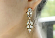 Fashion Jewelry Antique Bronze Vintage Wedding Statement Crystal Drop Earring