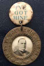 Original President William McKinley Inauguration Souvenir 1897 Pin Button