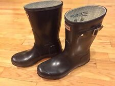 Hunter Original Gloss Short Black Rain Boots Women's Size 9
