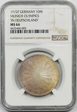 "1972F Germany 10M NGC MS 66 (Color) Munich Olympics ""In Deutschland"""