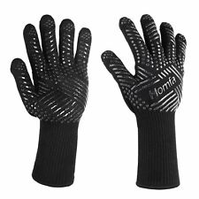 HOMFA Heat Resistant Oven Gloves Silicone BBQ Grill Gloves for Cooking Baking Gr