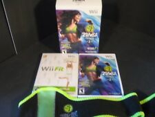 Zumba Fitness 2 & Wii Fit Includes Fitness Belt Manuals Game Discs Case Nintendo