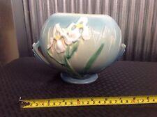 Roseville Pottery Large Bulbous Pot or Vase Blue Iris Pattern