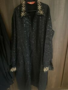 Designer Ethnic Mens Kurta Pyjama Salwar Shirt Kameez Wedding Party Size 40
