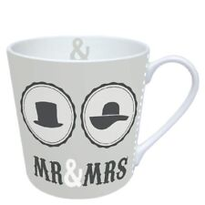 Ambiente Home Mug Tee/ Kaffee Becher Mr And Mrs Grey ca. 0.3L Ideal Als Geschenk