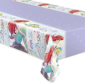 ARIEL LITTLE MERMAID plastic TABLECLOTH birthday party 1 table cover 54x84