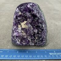 Amethyst Druze Crystal Cluster With Cut Base ~ Exact Specimen (ACB_5)