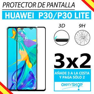 Protector Pantalla Huawei P30-P30 Lite Cristal Templado 3D Pantalla Completa