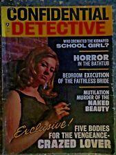 Confidential Detective Cases  July 1967  Mutilation Murder  Bathtub Horror