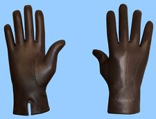 NEW MENS size 8 or small UNLINED GENUINE BROWN LAMBSKIN LEATHER DRESS GLOVES