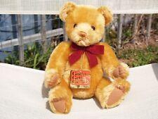 """GUND- MOHAIR TEDDY BEARKIN TEDDY BEAR- #9653- 12"""" - 1996- VERY NICE- ALL TAGS"""
