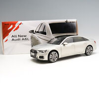 Original Scale 1/18 White Gold 2019 All New Audi A6L Diecast Car Model With Box