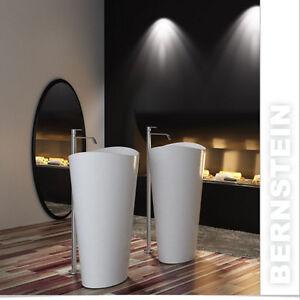 Vasque lavabo totem  PB2175 - 60 x 37 x 90cm, avec ou sans robinet