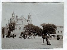 CZESTOCHOWA (POLOGNE) Place de l'EGLISE animée début 1900