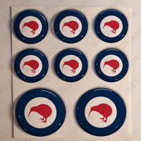 New Zealand Stickers Roundel Cockade Rond 3D Resin Domed Sticker Air Force