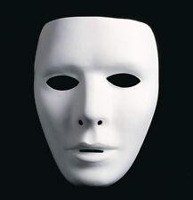 Weiße Neutralmaske - Männlich / Venezianische Maske Mann, Domino, Karneval