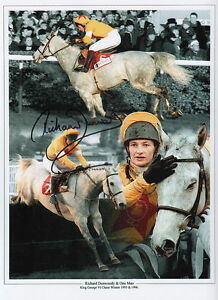 Horse Racing Legend Richard Dunwoody and One Man signed print