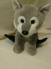 """Gray Wolf  Great Wolf Lodge Plush 11"""" Stuffed Animal Flipper Back Feet"""