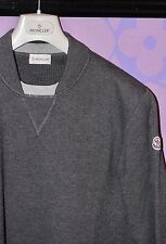 Moncler LOGO Crewneck Super Soft Cotton/Wool Tricot Thick Sweater Sweatshirt XXL