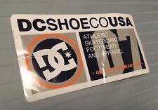 Dc Shoes Usa Skateboard Footwear Apparel 2007 F1 Vintage Skateboarding Sticker