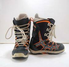 Mens Burton Moto Blue Orange Snowboard Boots Laces Size 7
