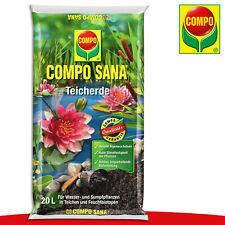 COMPO SANA® 20 l Teicherde   Für Seerosen, Wasser- und Sumpfpflanzen Garten