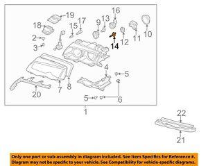 BMW OEM 03-08 Z4-Headlight Headlamp Bulb 63217160806