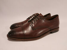 Allen Edmonds Yorktown Men's 12 D Brown Leather Cap Toe Brogues Derbies Shoes