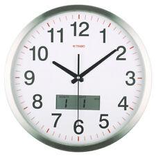 Orologio da parete in acciaio inox Trabo Digital Office 33,5cm quadrante bianco