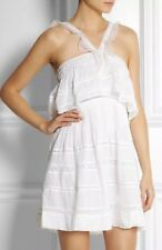 9821433692 Authentic ISABEL MARANT 36 4 XS OBIRA White RUNWAY Dress Lace Crochet FR36  NWT