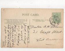 Master A H Thomas Croft Street West Bromwich 1908 553a