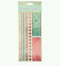 Accessorize Metalic Temporary Tattoos ~ Girls Womens, Adult Tribal Bands Sleeve♡
