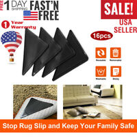 4/8/16 PCS Ruggies Rug Carpet Mat Grippers Non Slip Skid Reusable Washable Grip
