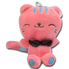 """3"""" Red Long Tail Cat Kitty Soft Plush Stuffed Animal Keychain Suction Cup New"""