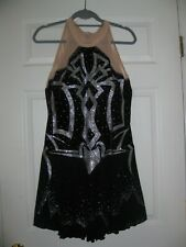 BEAUTIFUL CUSTOM MADE COMPETITION ICE SKATING/ ICE DANCING DRESS SIZE ADULT XL