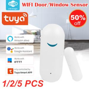 Tuya Smart Life WIFI Door&Window Alarm Sensor Detector For Google Alexa Home Top