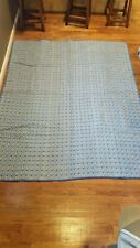 Vintage Handmade Quilt 82x66 Blue with small flowers