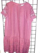 ann taylor lace plum dress size 16