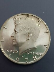 1978 S  CAMEO PROOF KENNEDY HALF  DOLLAR  Clad proof deep Cameo  actual coin